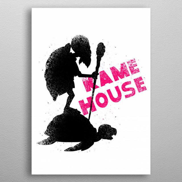 Kame house metal poster