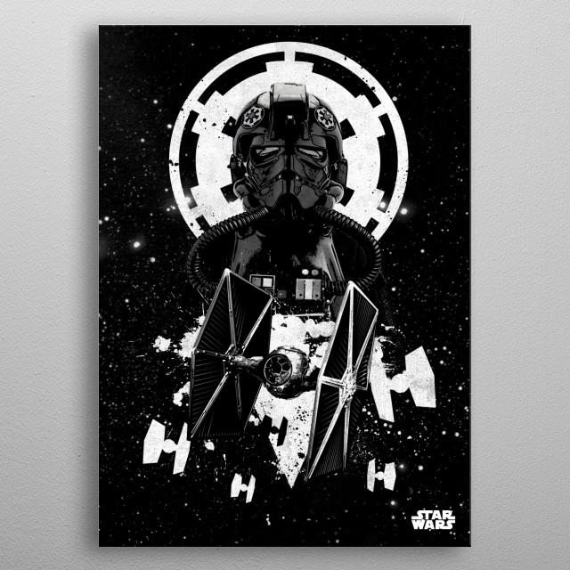 Tie Fighter Pilot metal poster