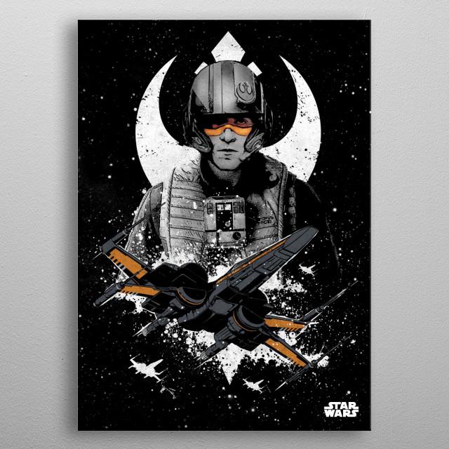 X-Wing (Poe Dameron) metal poster