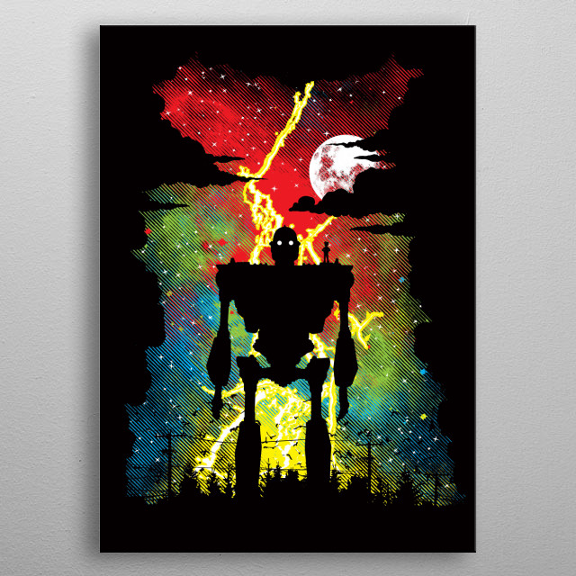 """Inspired by the movie """"The Iron Giant."""" I hope you like it! :) metal poster"""