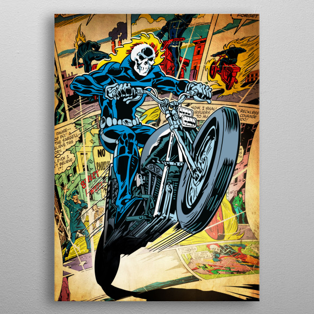 Ghost Rider metal poster