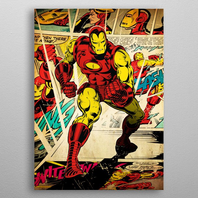 Iron Man metal poster