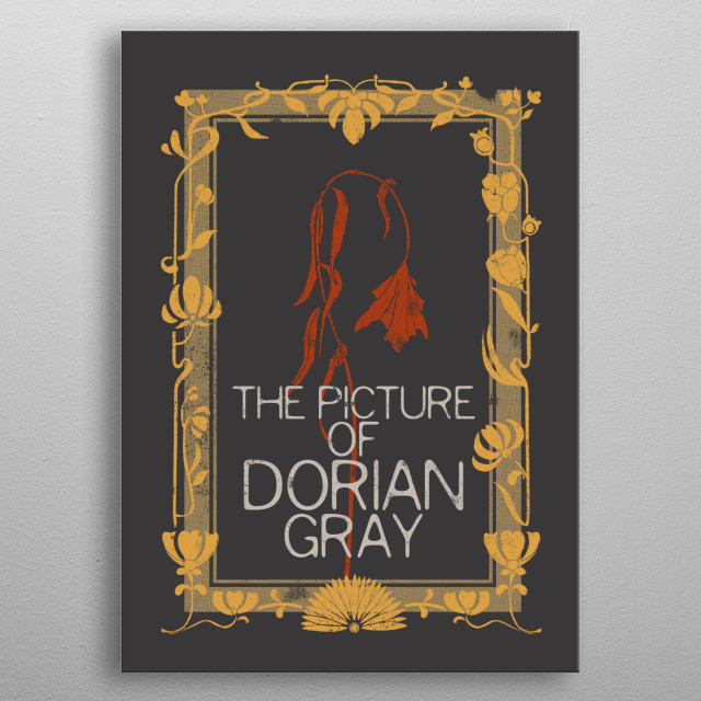 BOOKS COLLECTION: The Picture of Dorian Gray Oscar Wilde 1890. #FEB19 metal poster