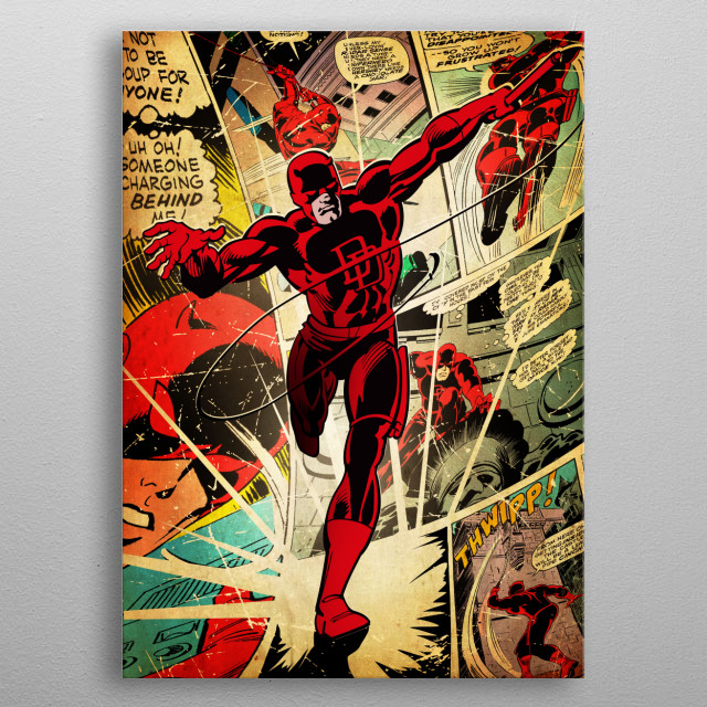 High-quality metal print from amazing Marvel Silver Age collection will bring unique style to your space and will show off your personality. metal poster