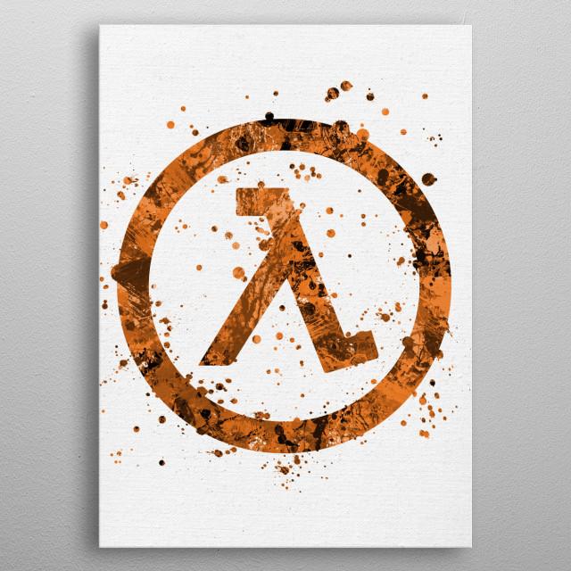 Half-Life metal poster