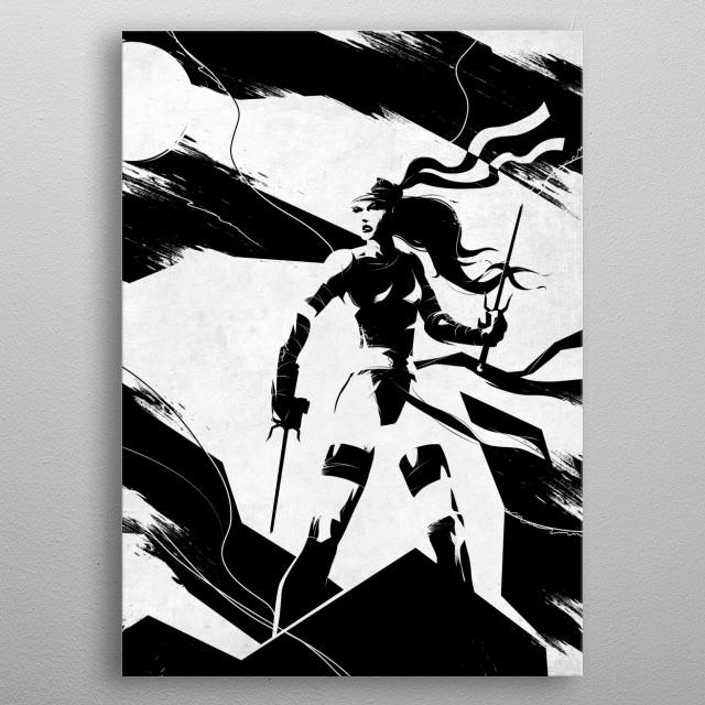 Elektra Natchios metal poster
