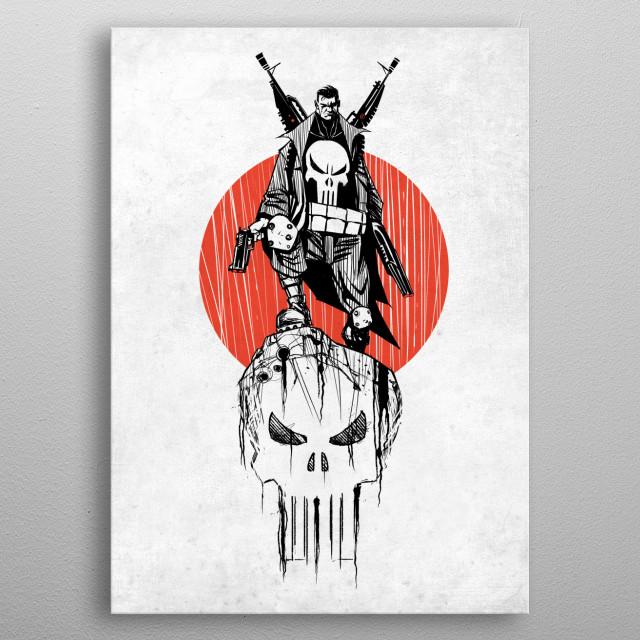 Punisher War Zone metal poster