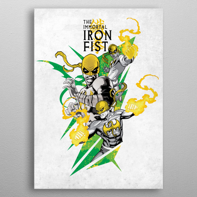 The Immortal Iron Fist metal poster