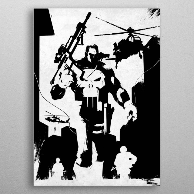 High-quality metal print from amazing The Defenders collection will bring unique style to your space and will show off your personality. metal poster