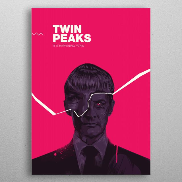 Twin Peaks 2017 metal poster