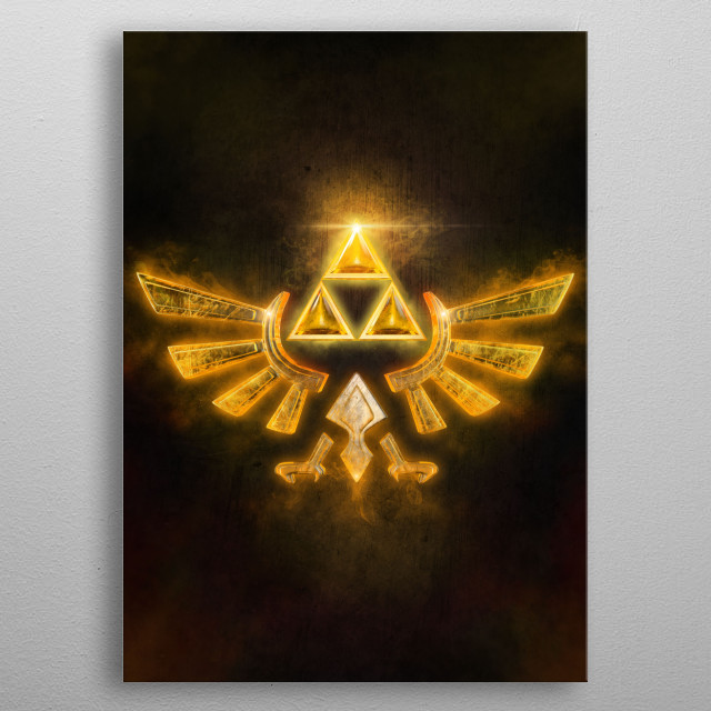 Triforce - Made with Maya metal poster