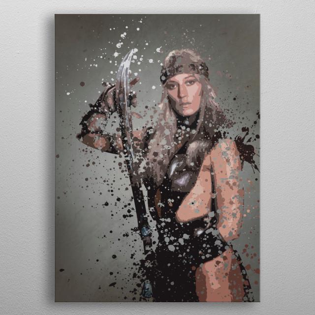 Valeria. Splatter effect artwork inspired by the Conan universe. metal poster