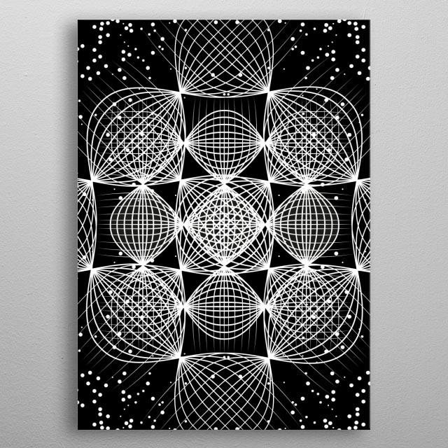 Bright Dimension metal poster