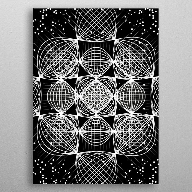 High-quality metal print from amazing Deep Space collection will bring unique style to your space and will show off your personality. metal poster