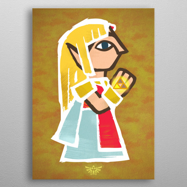 ZELDA PORTRAIT Oh no! Yuga captured princess Zelda in a painting! We have to save her!...or...not, and hang her picture in a wall, it would l... metal poster