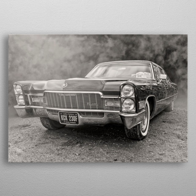Taken at a car show at Barton airport then transformed into a nice piece of digital art metal poster