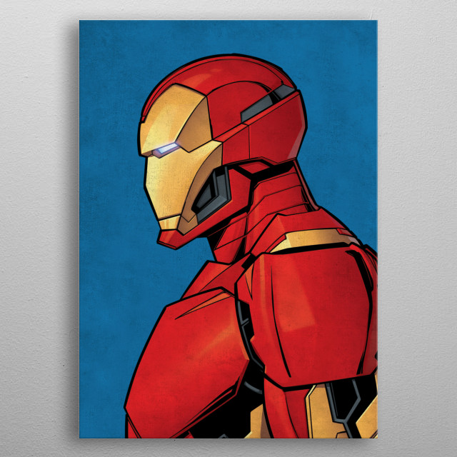 High-quality metal print from amazing Marvel Profile collection will bring unique style to your space and will show off your personality. metal poster