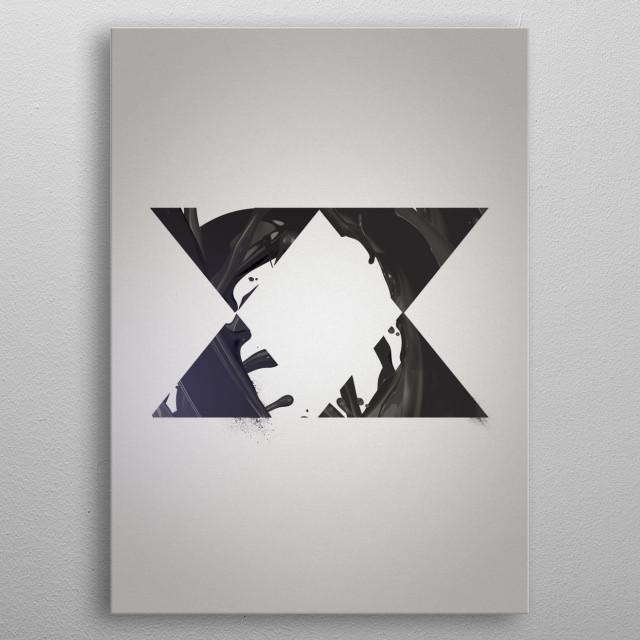 digital collage metal poster