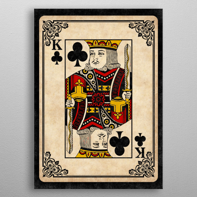 King of Clubs metal poster