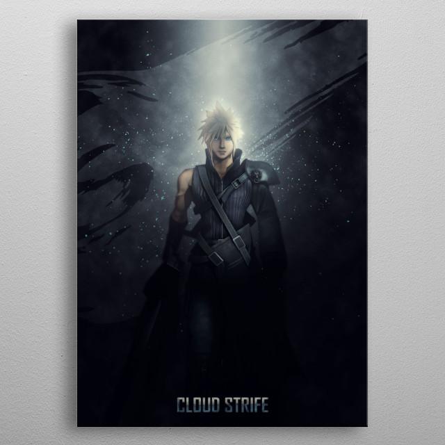 Heroes of Gaming - Cloud Strife metal poster