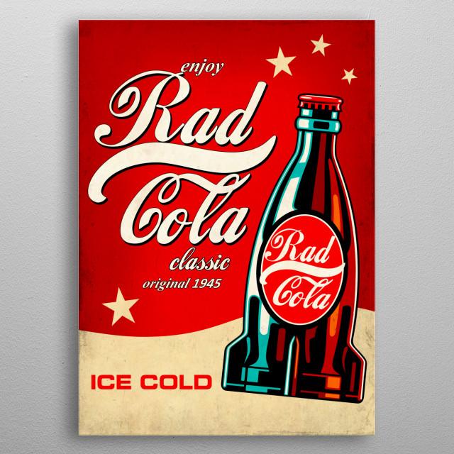 Rad Cola metal poster