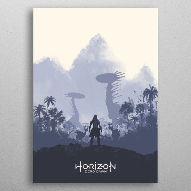 Poster design for the video game, Horizon: Zero Dawn metal poster