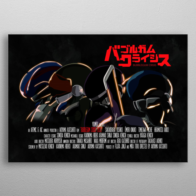 Bubblegum Crisis 2032 ~ Movie Poster metal poster
