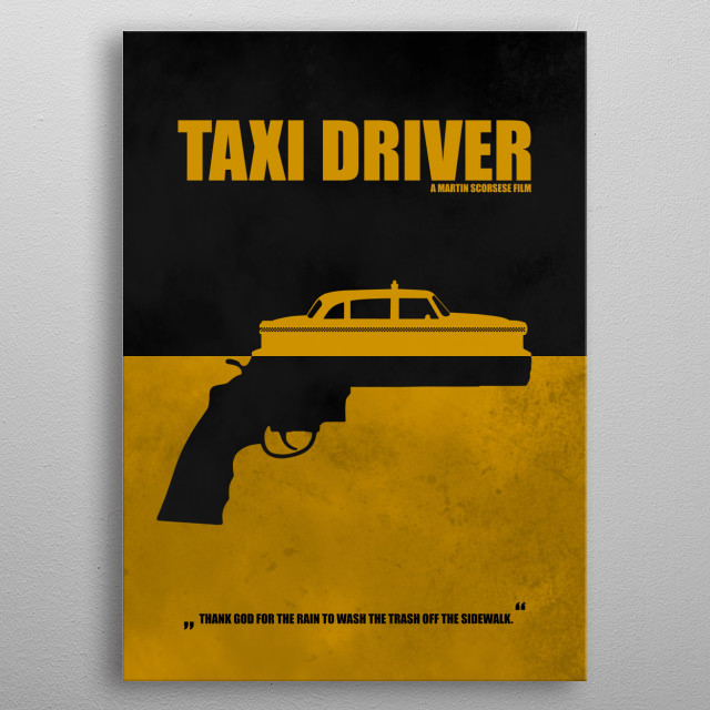 Taxi Driver - Minimal Alternative Movie Poster metal poster