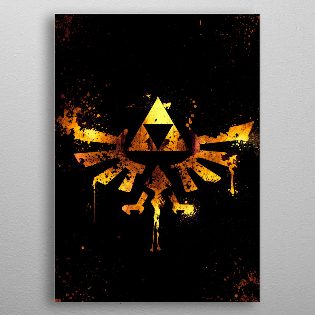 Triforce · 2D Edition metal poster