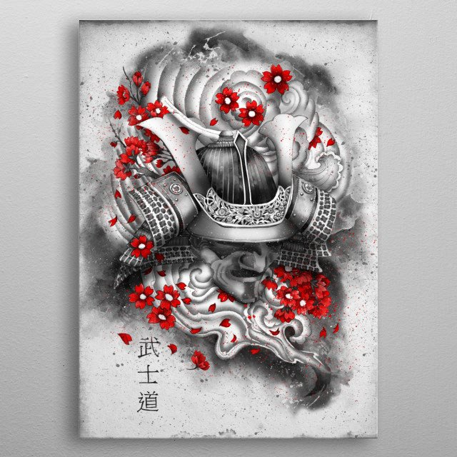 Bushido the way of the warrior is a Japanese term for the samurai way of life. metal poster