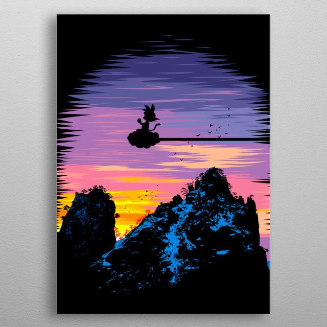 Mountains metal poster