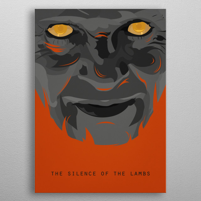 The Silence of the Lambs 'Have the lambs stopped screaming?' metal poster