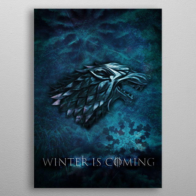 Game of Thrones - Illustration _ Photo Montage - Photoshop - Collection X metal poster