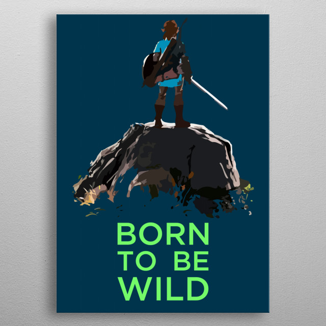 Born to be wild. metal poster