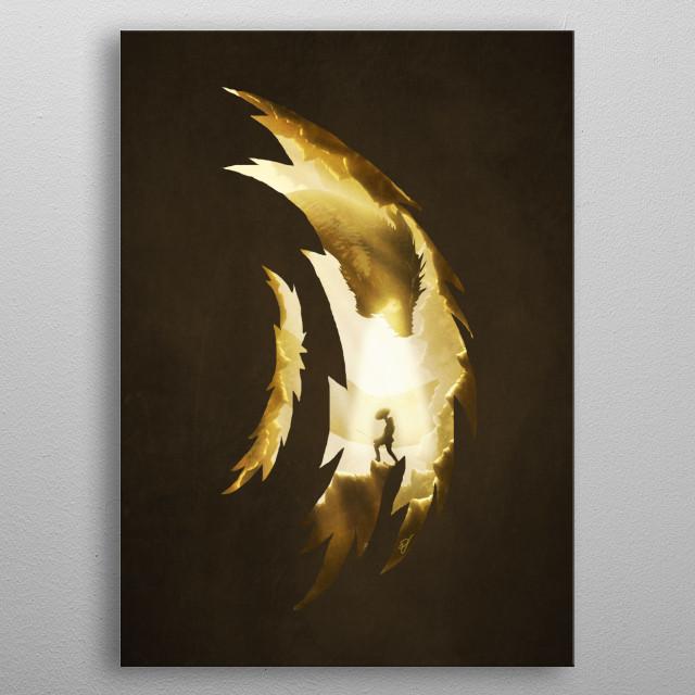 Hunter versus Prey metal poster