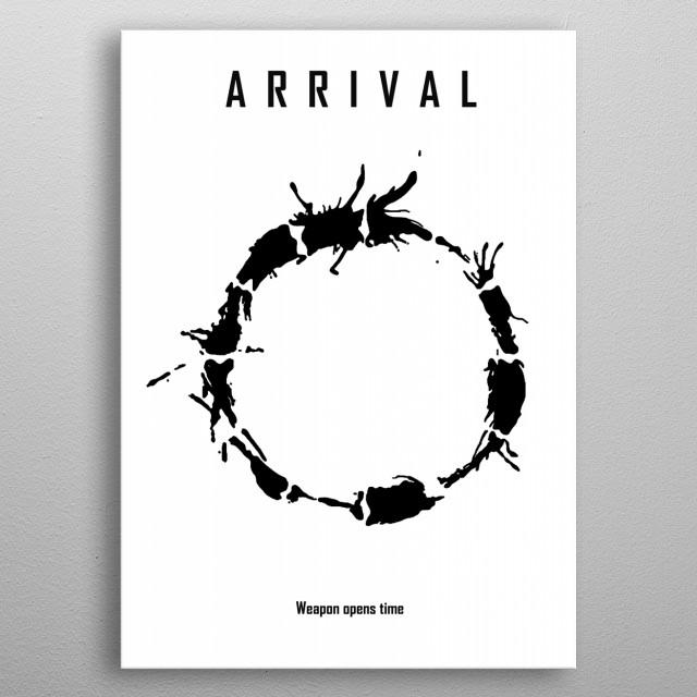 Arrival minimalist poster metal poster