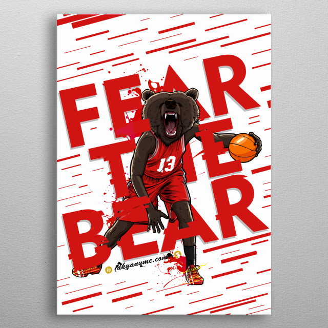 Beasts Collection: Fear the Bear: The question is, are they mutant animals? Or improved humans? Which of the two will it be? Could it be that the human gene and the wild beast coexist in one? Everything is possible. metal poster