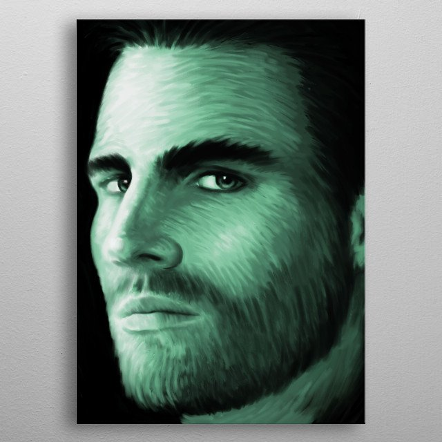 Stephen Amell 01 metal poster
