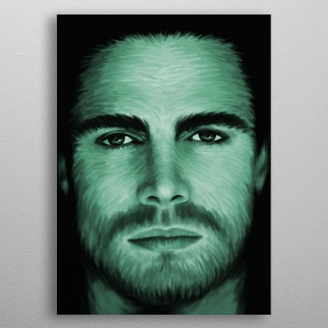 Stephen Amell 02 metal poster