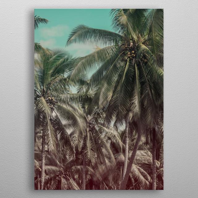 Tropical island dreaming. metal poster