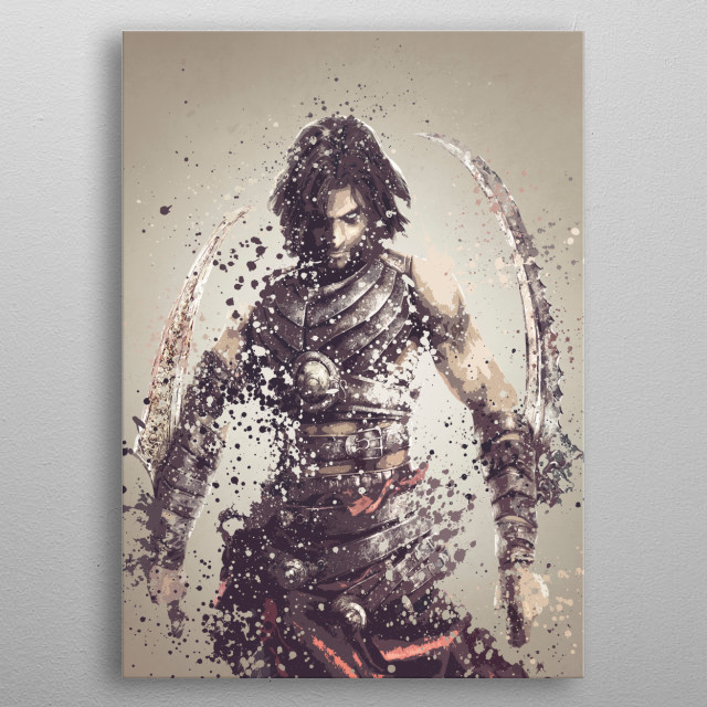 Dastan. Splatter effect artwork inspired by the Prince of Persia universe. metal poster