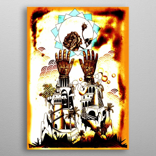 ASTRO TROPICAL  metal poster