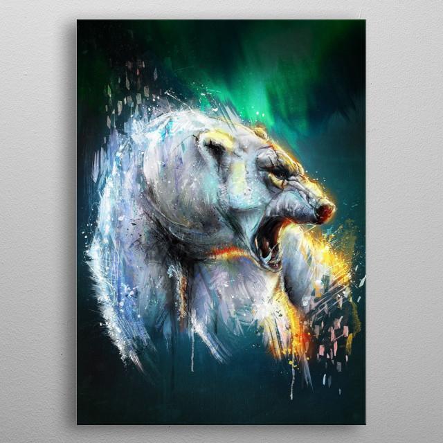 Bearealis. metal poster