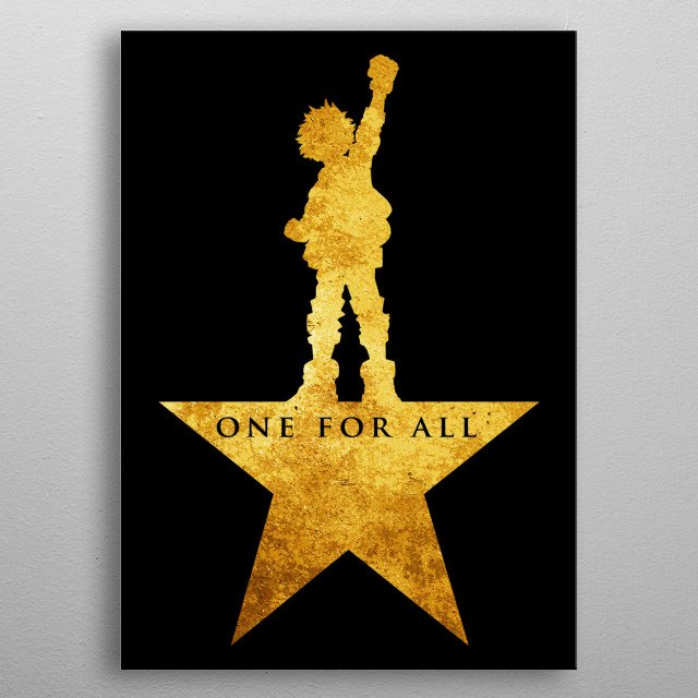 - One for all - metal poster