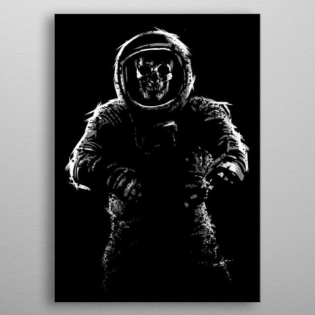 Sketch astronaut metal poster