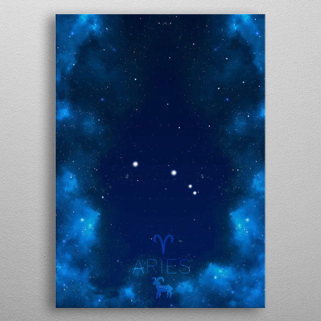 Stars know everything about you. Aries. metal poster