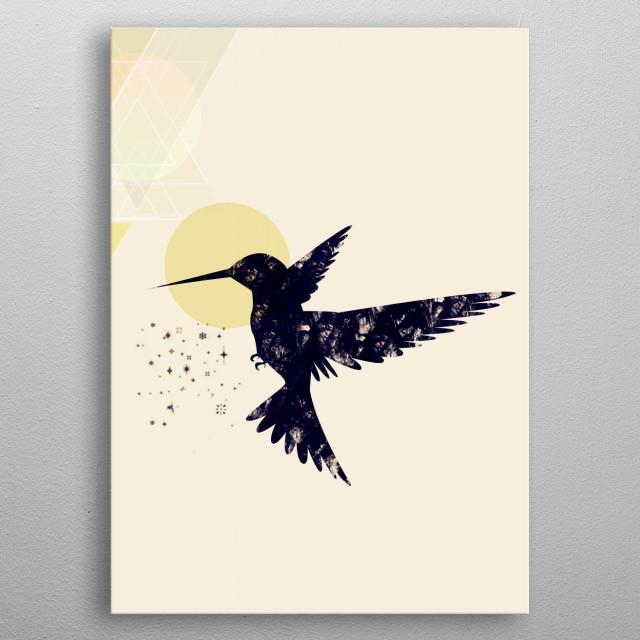 Bird X   metal poster