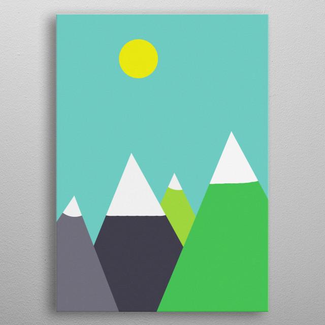Mountain metal poster