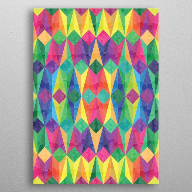 Colorful Geometric Background metal poster