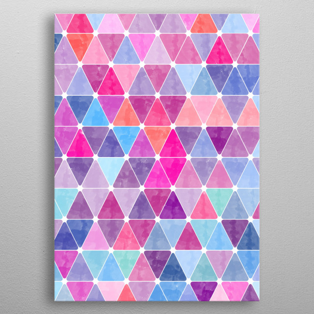 Lovely Geometric Background X metal poster